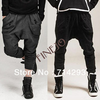 Men's Zipper Design Casual Sports Dance Trousers Baggy Jogging Harem Pants M-XXL Drop shipping 18121