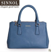 Sinnol ! luxury women's cowhide handbag 2013 genuine leather handbag messenger bag