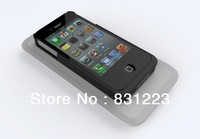 Qi Wireless Charger Receiver Case charging transmitter supplied QI standard Jacket for iPhone 4 4S White free shipping