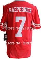 Free Shipping Wholesale Cheap Men's Authentic Elite American USA Football Jersey/Shirt San Francisco #7 Kaepernick