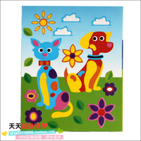 Eva diy cat dog diy toy puzzle personalized puzzle handmade stickers sticker 60