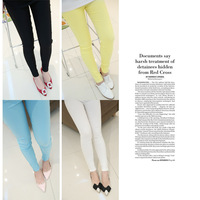 Small mosquitoes 2013 spring slim female trousers zipper legging c4170