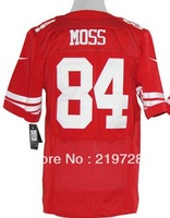 Free Shipping,sports jerseys #84 Randy Moss Men's Elite American Football Jersey,Embroidery and Sewing Logos,Size M--3XL