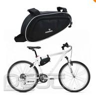 FREE SHIPPING Fashion Cycling Bicycle Bike Triangular Frame Front Tube Saddle Bag Black