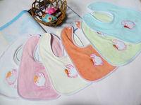 10 pcs lot velvet Baby bib Infant saliva towels , rabbit Baby Waterproof bib cartoon Baby wear CP014