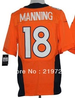 Free Shipping #18 Peyton Manning Men's Elite American usa Football Jersey,Embroidery and Sewing logos,Size 40-56 can mix