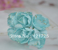 Free shipping paper flowers with pink roses handmade Candy box packaging artificial flower