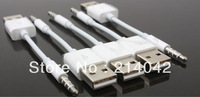 USB SYNC Charger Cable 11cm Cord for iPod Shuffle 3rd 4th GEN 3 4 Short&white Free shipping