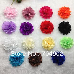 "Hot Selling 2 ""Silk Lace Chiffon Fabric Flower Kid Headwear Hair Accessories Headdress Flower 30Pcs/lot Free Shipping th22"