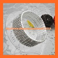 Free Shipping ! 6Row Rhinestone Napkin Ring,Bracelate ,Rhinestone Buckle For Wedding Table Decoration
