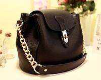 2014 summer new Japanese and Korean style buckle chain bag shoulder bag Messenger bag retro wave