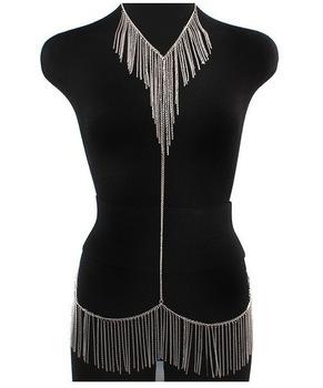 Free Shipping, Fashion Sexy Women Golden Choker Waist Full Body Dress Link Body Chain,Body Chain Jewelry
