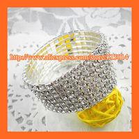 Free Shipping ! 7Rows Rhinestone Napkin Ring,Bracelate ,Rhinestone Buckle For Wedding Table Decoration