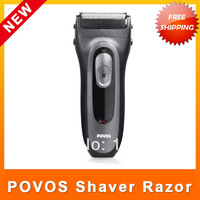 POVOS PS7626 Shaving Rechargeable Foil Shaver Floating Electric Razor Ergonomic Handle Design for Male Men