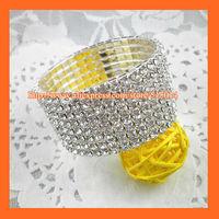 Free Shipping ! 8Rows Rhinestone Napkin Ring,Bracelate ,Rhinestone Buckle For Wedding Table Decoration