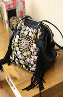 new arrival beaded shoulder bag female bag backpack women's handbag backpack 651
