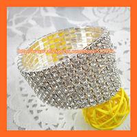 Free Shipping ! 9Rows Rhinestone Napkin Ring,Bracelate ,Rhinestone Buckle For Wedding Table Decoration