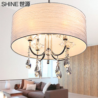 Modern brief pendant light gauze crystal lamp living room lights bedroom lamp restaurant lamp lighting lamps pl7015