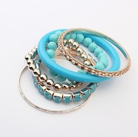 Min.order is $15 (mix order)Free Shipping New Arrival Korean fashion beautiful multilayer Bead Bracelet