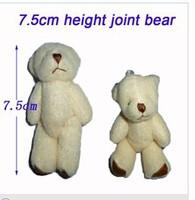 Wholesale 100pcs/Lot H=7.5cm Plush Joint Bear Pendant For Key/Phone For Christmas Gifts Retail
