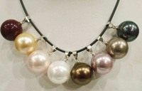8 Entries Beautiful shell Pearl Pendant Necklace 16mm