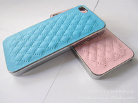 Free Shippingiphone5 lambskin 5th generation Apple phone shell lambskin leather holster hand phone shell snow Chennai children