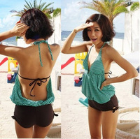 Swimwear female one piece swimwear bikini stripe racerback
