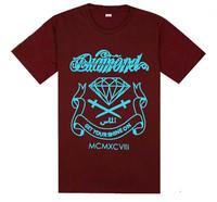 2013 New color Fashion diamond supply Cotton men's t-shirt Casual Short sleeve t shirt  Free shipping