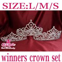 Large/Medium/small size pageant winner rhinestone crown tiara queen princess headdress MT017