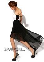 2013 New Free Shipping Women's Sexy Best-selling Stylish Off Shoulder Irregular Lap Long Dress Black&White TQ12081412