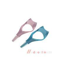 3 in 1 Mascara Eyelash Brush Curler Lash Comb Novelty Multifunction Cosmetic M3A