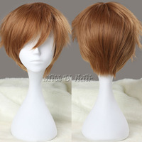Парик Discount! Cheap 35cm Short Fairy Tail-shima renzou Pink Cosplay Costume Wig Anime wig