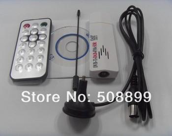 New 1pcs/lot Mini USB DVB-T Digital TV Tuner Support FM & DAB Function European Free Shipping&Dropshipping