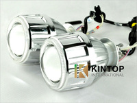 2.5HID Bi-xenon Projector Lens Light 12V35W HID/halogen projector Lens Light ,optional angle eyes+18months warranty