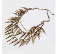 2014 Time-limited Special Offer Trendy Women Round Free Shipping Spike Necklace Cn096, Choker 6pc/lot Min. Is $15 (mixed Order)