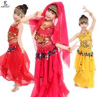 Children's dance child belly dance set female child indian dance child indian dance costume clothes