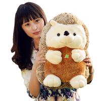 Free shipping silicone baby dolls cute plush toy doll hedgehog girl birthday gift stuffed animals big large 50cm