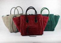 dLuggage Phantom Tote Bag in Suede Leather Handbag C-198 88033 Free shipping