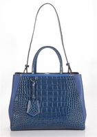 2Jours Tote Bag in Croco printed leather,designer handbag,leather bags Free Shipping