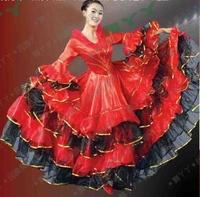 Clothes dance costume long-sleeve big skirt costume x266