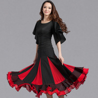 Bust skirt skirts expansion bottom isointernational skirt dance clothes patchwork chiffon skirts national dance