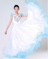 Professional customize spanish bull dance dress expansion skirt performance wear