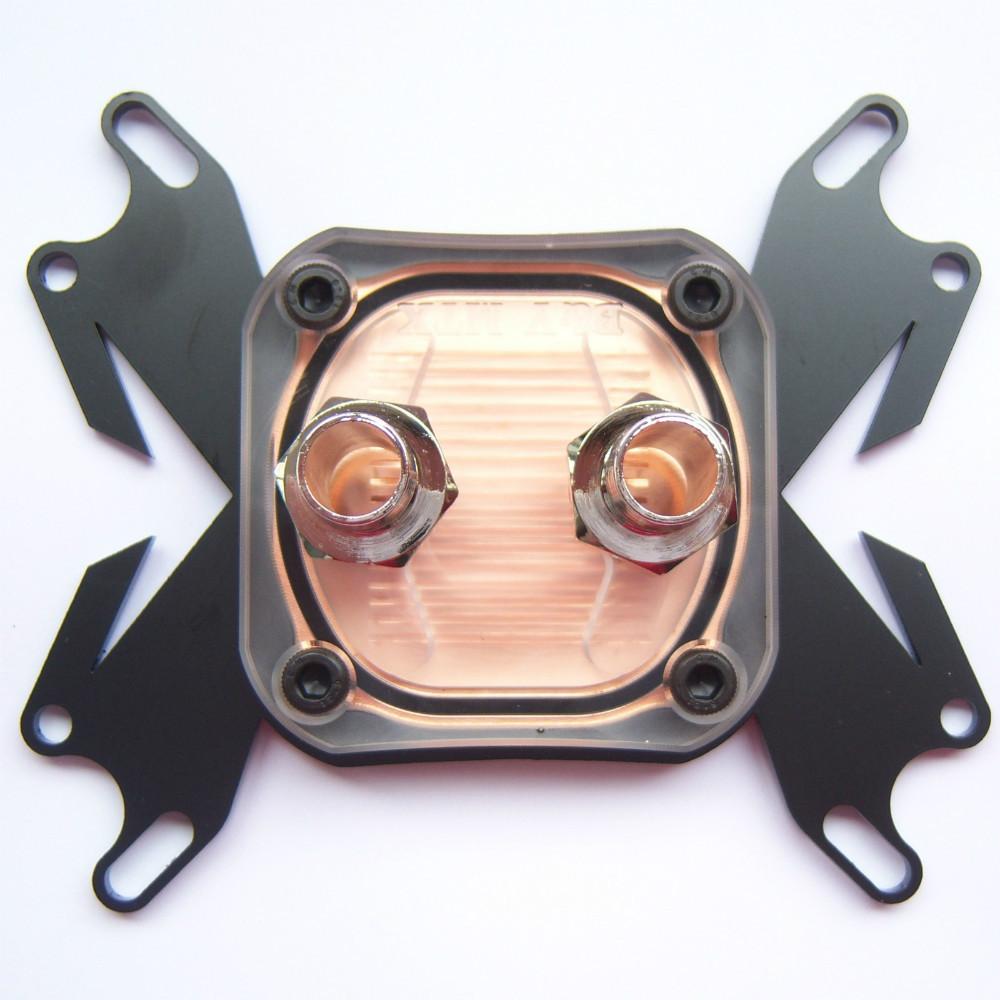 1 PCS CPU água de resfriamento bloco de cobre Waterblock líquido refrigerador para Intel AMD W16 grátis frete(China (Mainland))