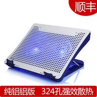 Idock n1 laptop cooling pad 14 15.6 17 double fan pure aluminum plate quieten the base mount