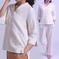 White fluid yoga clothes yoga clothing half sleeve householders service meditation