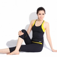 Sleeveless vest sports capris fitness yoga clothes yoga set aerobics clothing Women