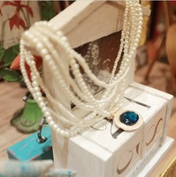2013  Beads To Make Jewelry Pearl Artificial Gemstone Pendant Necklace Free Shipping p135