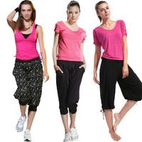 2013 capris summer short-sleeve yoga clothes yoga workout clothes female set 22332