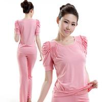 Yoga clothes modal set female short-sleeve yoga dance clothes clothing fitness clothing aerobics clothing
