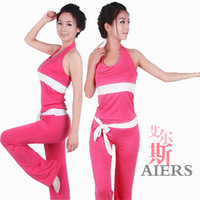 Hot yoga clothes yoga clothing set sleeveless spring and summer 2013 5 vest fitness clothing